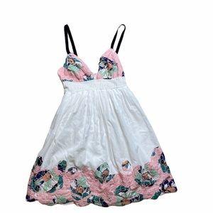 Catherine Malandrino floral lace/cotton sundress